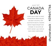 happy canada day poster template | Shutterstock .eps vector #439647766
