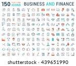 set vector line icons in flat...   Shutterstock .eps vector #439651990