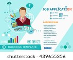 job application design concepts ... | Shutterstock .eps vector #439655356