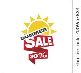 summer sale 30 percent | Shutterstock .eps vector #439657834