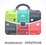 vector briefcase infographic.... | Shutterstock .eps vector #439659148