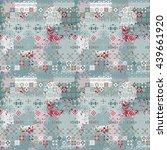ethnic boho seamless pattern.... | Shutterstock .eps vector #439661920