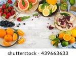 healthy eating background.... | Shutterstock . vector #439663633