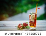 Glass Of Cold Tea With Mint...