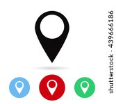 the label on the map icon | Shutterstock .eps vector #439666186