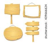 vector wooden signs | Shutterstock .eps vector #439666624