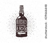 whiskey is always a good idea... | Shutterstock .eps vector #439666648