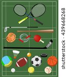 sport elements collection.... | Shutterstock .eps vector #439668268