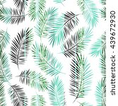 palm leaves seamless pattern.... | Shutterstock .eps vector #439672930