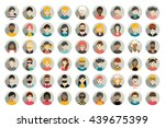 mega set of circle persons ... | Shutterstock .eps vector #439675399