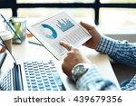 business adviser analyzing... | Shutterstock . vector #439679356