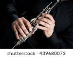 Hands Of A Clarinet Player In...