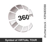 vector symbol for virtual tour  ... | Shutterstock .eps vector #439680088