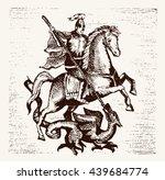 Hand Drawn Saint Georgi. Vecto...