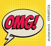 omg comic book bubble text... | Shutterstock .eps vector #439689226