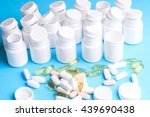 many pills and tablets isolated ... | Shutterstock . vector #439690438