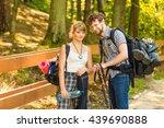 adventure  tourism  enjoying... | Shutterstock . vector #439690888