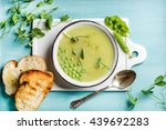 light summer green pea cream... | Shutterstock . vector #439692283