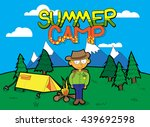 summer camp vector cartoon...   Shutterstock .eps vector #439692598