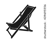 beach chair icon vector. flat... | Shutterstock .eps vector #439695556