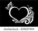 beautiful monochrome black and... | Shutterstock .eps vector #439697494