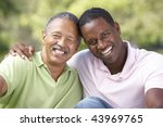 father with adult son in park | Shutterstock . vector #43969765