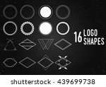 shapes for logo design  labels... | Shutterstock .eps vector #439699738