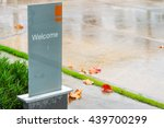 welcome signage | Shutterstock . vector #439700299