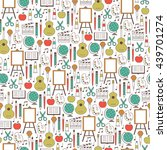 back to school seamless pattern.... | Shutterstock .eps vector #439701274