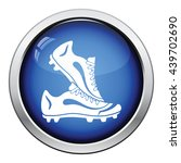 icon of football boots. glossy... | Shutterstock .eps vector #439702690