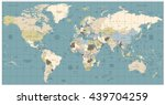 world map old colors... | Shutterstock .eps vector #439704259