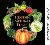 banner of organic and natural... | Shutterstock . vector #439709278