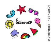 summer colorful infographics. a ... | Shutterstock .eps vector #439710604