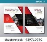 flyer leaflet brochure... | Shutterstock .eps vector #439710790