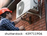 portrait of technician in... | Shutterstock . vector #439711906