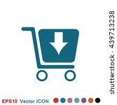 shopping cart icon | Shutterstock .eps vector #439713238