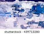 hand drawn oil painting.... | Shutterstock . vector #439713280