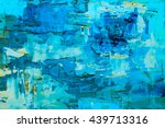 hand drawn oil painting.... | Shutterstock . vector #439713316