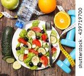diet food concept | Shutterstock . vector #439719700