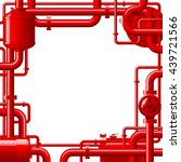 Red Gas Pipes. Industrial Frame ...