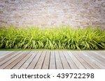 old hardwood decking or... | Shutterstock . vector #439722298