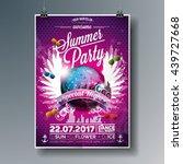 vector summer beach party flyer ... | Shutterstock .eps vector #439727668