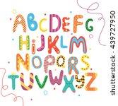 bright abc for kids. alphabet....   Shutterstock .eps vector #439727950