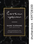 business card with marble...   Shutterstock .eps vector #439728100
