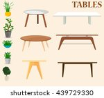 furniture. set of tables and... | Shutterstock .eps vector #439729330
