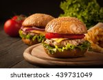 home made hamburger with beef ... | Shutterstock . vector #439731049