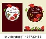 poppies vector templates | Shutterstock .eps vector #439733458