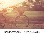 red japan style classic bicycle ... | Shutterstock . vector #439733638