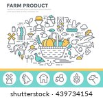 farm product illustration ... | Shutterstock .eps vector #439734154