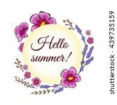 wildflowers label vector...   Shutterstock .eps vector #439735159